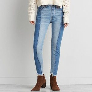 🍁American Eagle Two-Tone High-Rise Jeans🍁